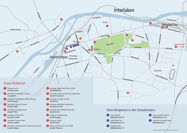 Skulp Tour 2014 Nicolas Lavarenne - Plan de l'exposition