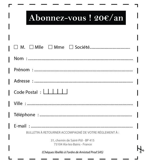 Bulletin d'adhésion Mag n°05