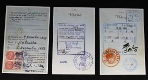 Premiers déclics - Vers l'Orient, Visas Inde