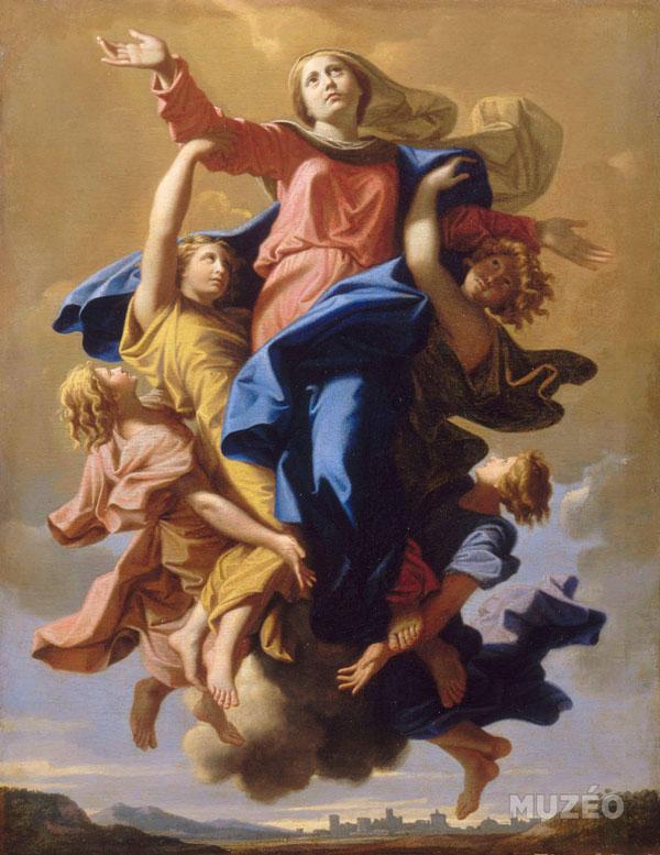 L'assomption à la Vierge - Nicolas Poussin
