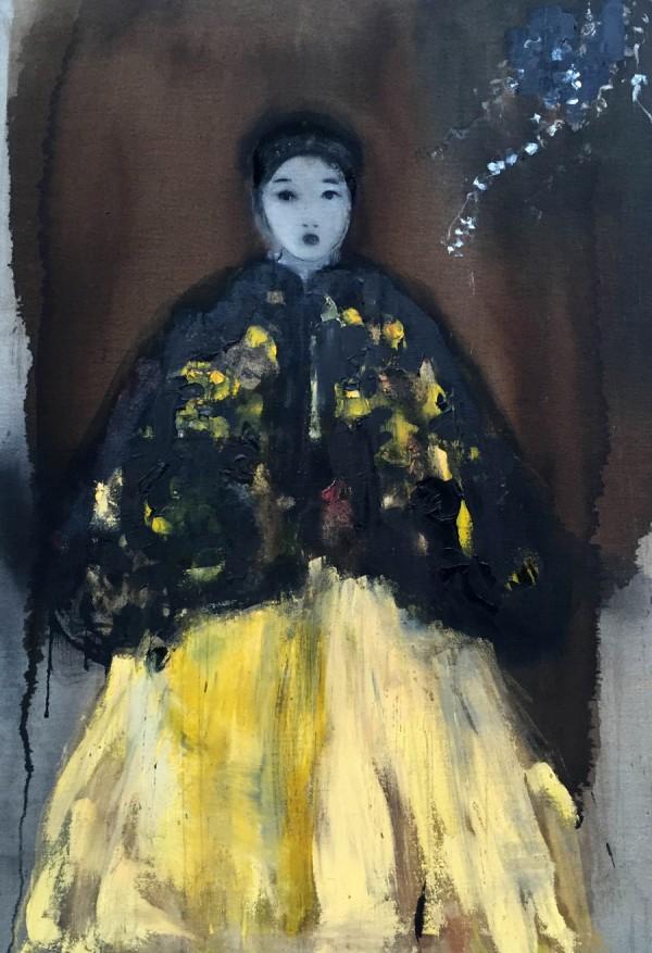 Katia-KRIEF---Sans-titre-à-la-robe-jaune---89-x-130-cm