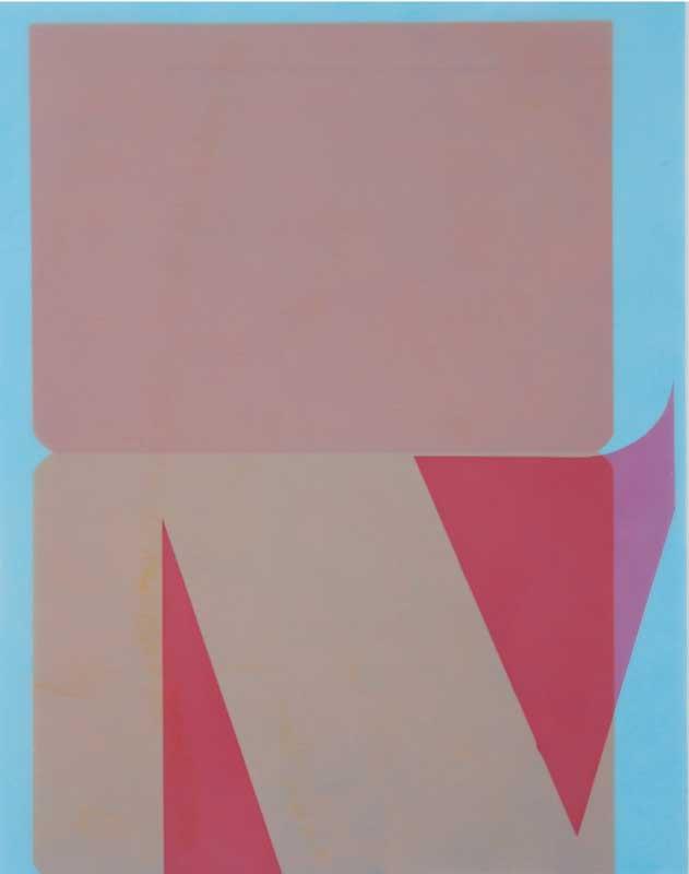 Florendo Nanni - Sans titre, huile et cire sur calque, 48 x 62 cm.